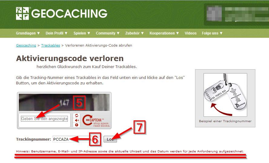 Trackable ohne Code aktivieren 3