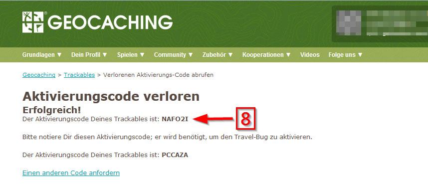 Trackable ohne Code aktivieren 4