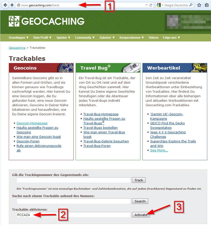 Trackable ohne Code aktivieren 1