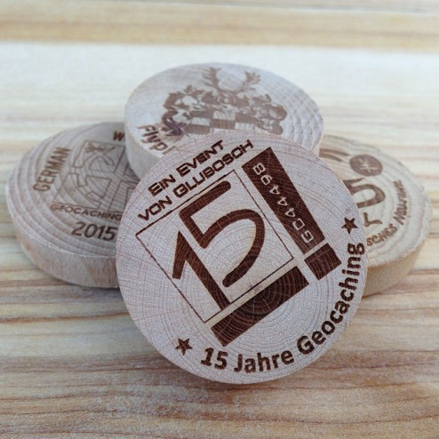 German Wood Geocoin Buche