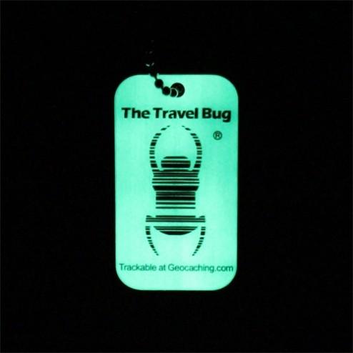 QR Travel Bug Anhänger nachtleuchtend