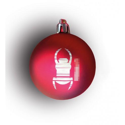 Weihnachtskugel Christbaumkugel Travel Bug rund rot
