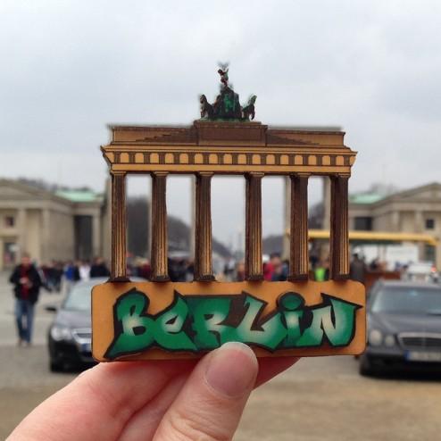 3D Wood Geocoin XXL Brandenburger Tor - Trackable Kollektion