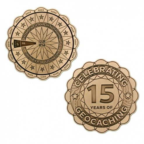 15 Years of Geocaching The Ultimate Spinner Geocoin