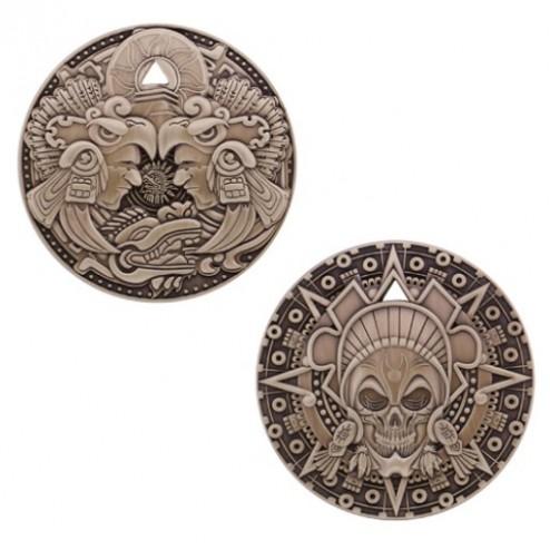 Aztec Pirate Antique Gold Geocoin