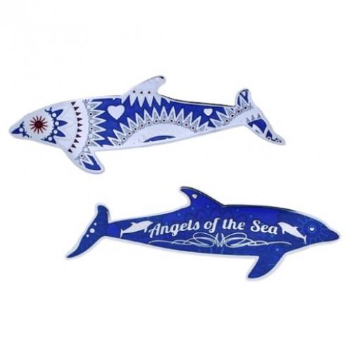 Delphin blau Geocoin