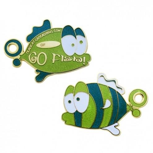Go Fish grün Geocoin