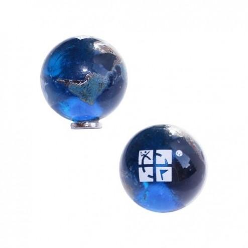 Magnetische Murmel Erde mit Geocaching Logo