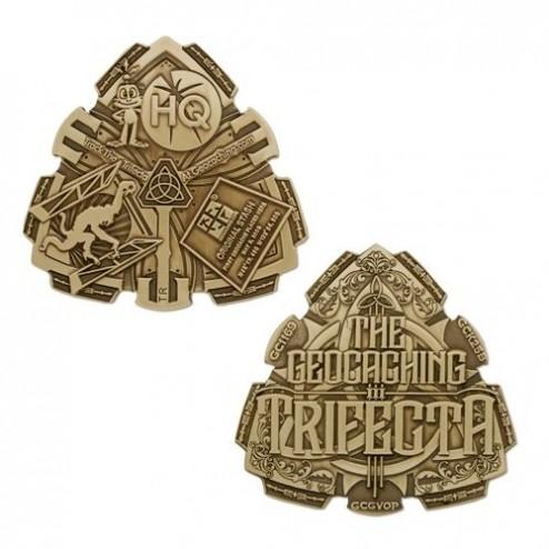 Trifecta Antique Bronze Geocoin
