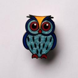 Babyeule Owl Eulenkinder - Ocean Micro Geocoin