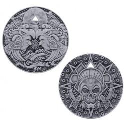 Aztec Pirate Antique Silver Geocoin