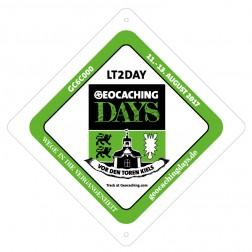 Geocaching Days - Saugnapfschild für Auto und Wohnmobil