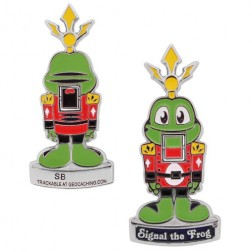 Signal The Frog Nußknacker Geocoin