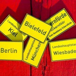 Ortsschild Ortseingang Deutschland Geocoin