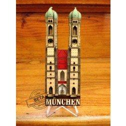 3D Wood Geocoin XXL Münchener Frauenkirche - Trackable Kollektion
