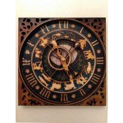 3D Wood Geocoin XXL Astronomische Uhr Ulm - Trackable Kollektion
