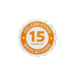 15 Years of Geocaching Pin