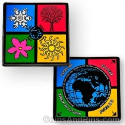 Four Seasons Geocoin