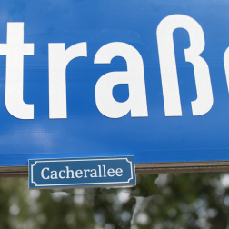 Trackable Straßenschild Deutschland