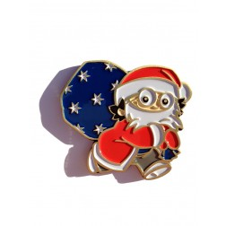 Xmas Christmas Weihnachts Mainzelmännchen Det Antik Gold Geocoin