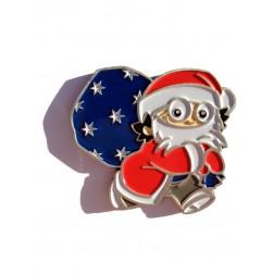 Xmas Christmas Weihnachts Mainzelmännchen Det Antik Silber Geocoin