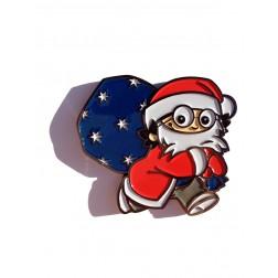 Xmas Christmas Weihnachts Mainzelmännchen Det Black Nickel Geocoin