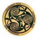 Celtic Triskele grün Geocoin