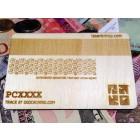 3D Wood Geocoin XXL Geocaching Kreditkarte - Trackable Kollektion