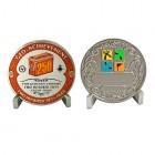 250 Funde - Geo Achievement Geocoin Set mit Pin