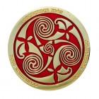 Celtic Triskele rot Geocoin
