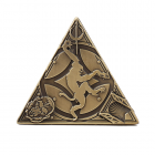 3D Trifecta Antique Bronze Geocoin