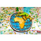 3D Wood Geocoin XXL Globus - Trackable Kollektion
