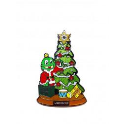 Signal Christmas LASER ON TOP Geocoin