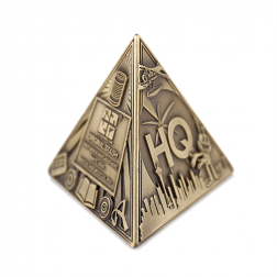3D Trifecta Antique Bronze Geocoin